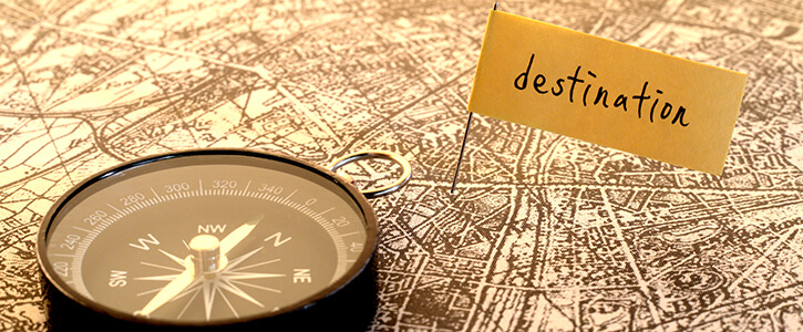 compas en kaart