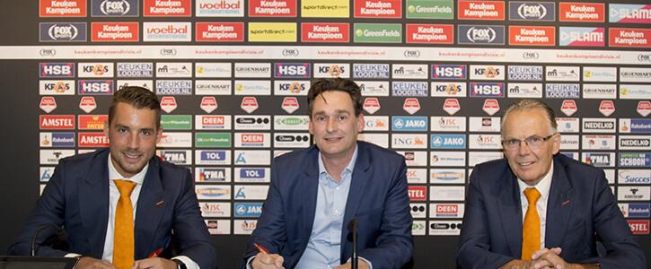 Foto na wedstrijd voetbal FC Volendam v FC Den Bosch