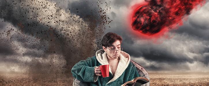 Man niet bewust van ramp